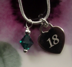 18th Birthday Personalised Necklace
