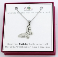 Birthday Gift Butterfly Necklace