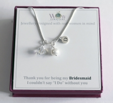 Bridesmaid personalised Necklace